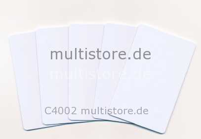 Evolis Plastikkarten Classic White 0,5mm
