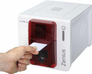 Evolis Zenius Classic rot USB BDL