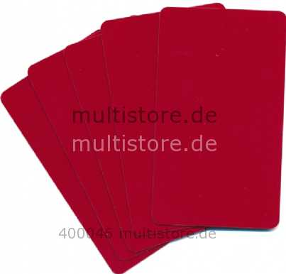 Plastikkarten rot 0,5mm PVC Sondermaß 85,72x50mm